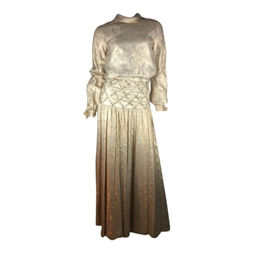 Vintage 1960's Couture lame Gold skirt suit