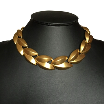 Givenchy Interlocking Leaves Gold Vintage Necklace