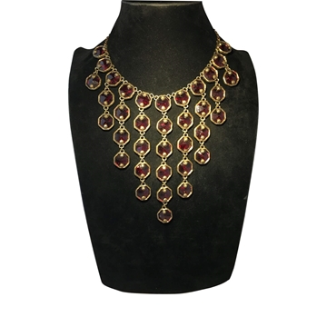 Poggi Droplet style red vintage Necklace