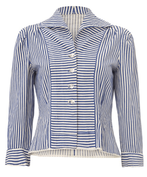 Vintage striped cotton blue & white Shirt