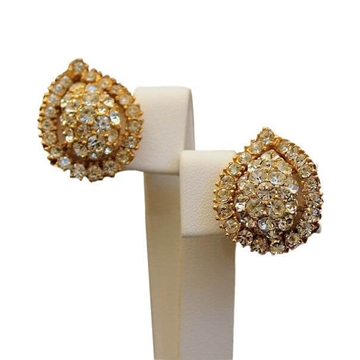 Christian Dior by Mitchel Maer Floral Indian Style Gold Earrings