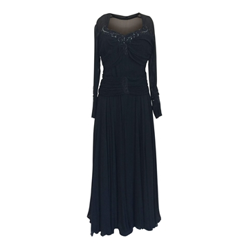 Vintage 1940s silk chiffon evening dress