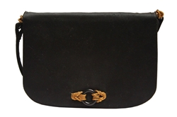 Rene Mancini 1970s black vintage Evening Bag