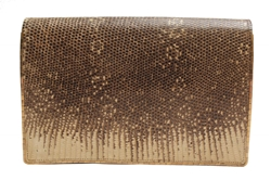 John Pound 1950s Snakeskin cream & gold vintage Clutch bag