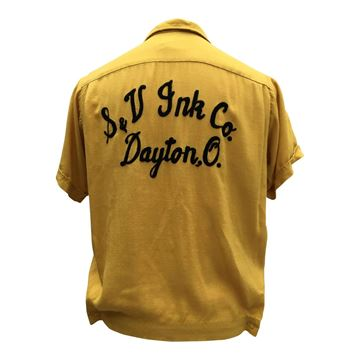 Picture of Vintage 1950s Yellow American Bowling Shirt