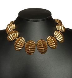 Celine Gilt Collar Gold Vintage Necklace