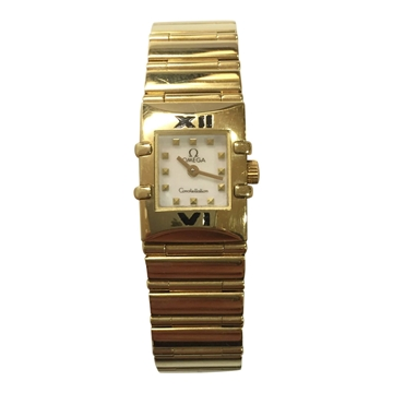 Omega Constellation 18 carat yellow gold square vintage ladies watch