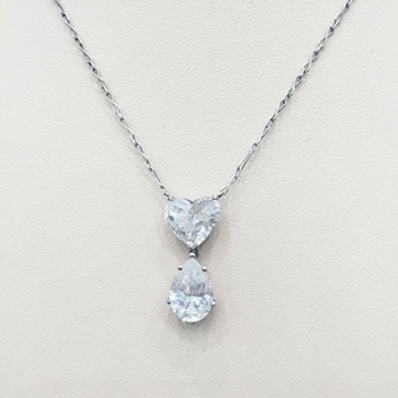 Antique Edwardian Heart & Pear Shaped Diamond Necklace