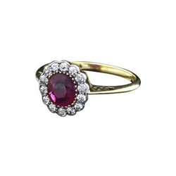 Antique Edwardian ruby & diamond ring