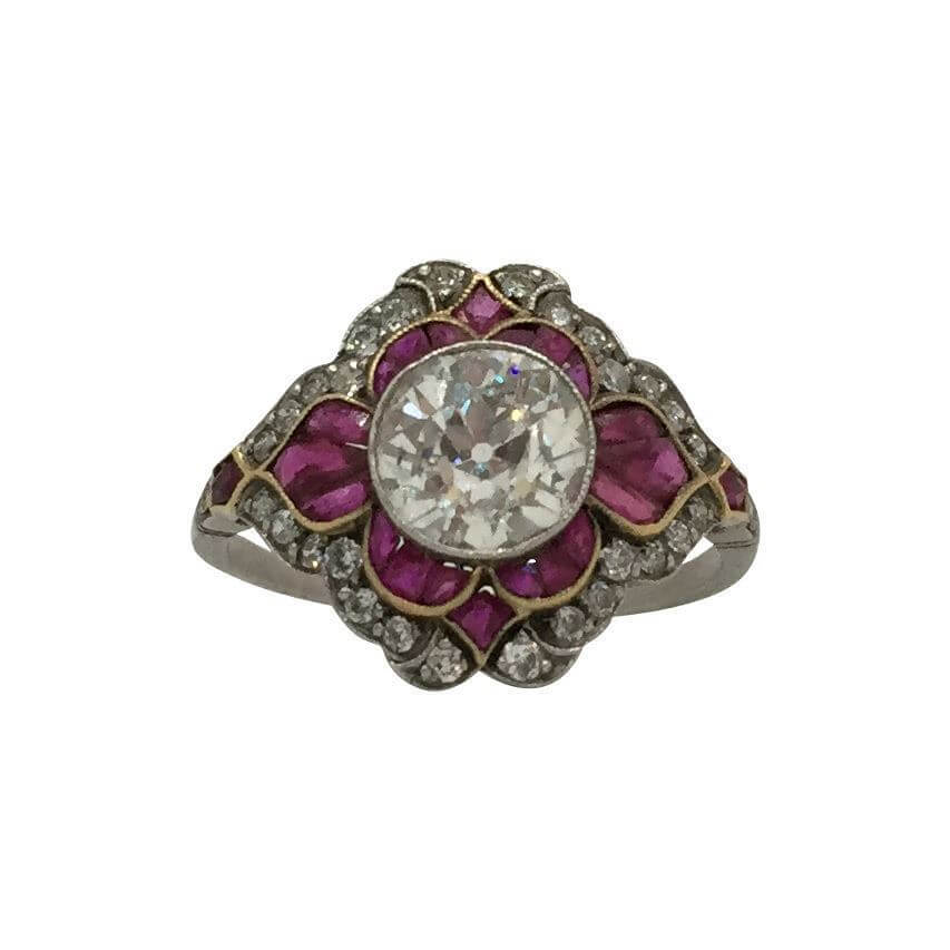 antique edwardian ruby ring open for vintage