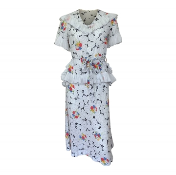Vintage 1930s lawn cotton floral day dress