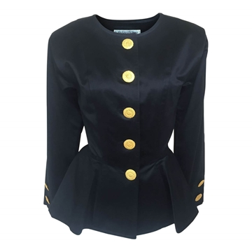 Yves Saint Laurent 1980s Rive Gauche black vintage jacket