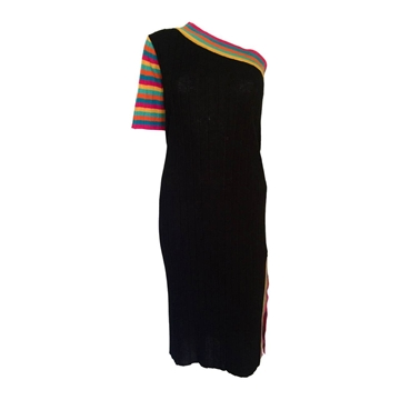 YYves Saint Laurent 1970s Knitted Tricot vintage dress