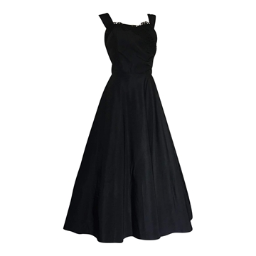 Vintage 1950's Black Taffeta dress