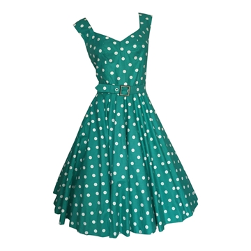 Vintage 1950's polka dot cotton Day Dress