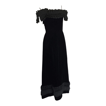 Vintage 1950's Long Velvet Evening dress