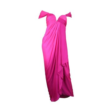 Andrea Odicini Couture 1980s off-the-shoulder hot pink vintage dress