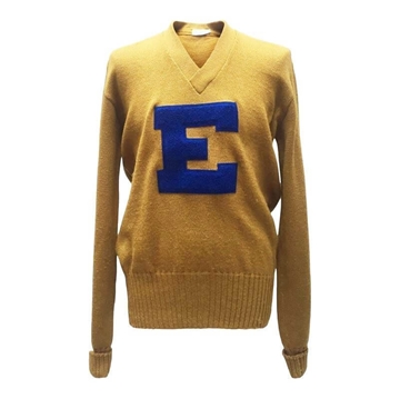 Imperial 1960s Classic Varsity Yellow Vintage Sweater