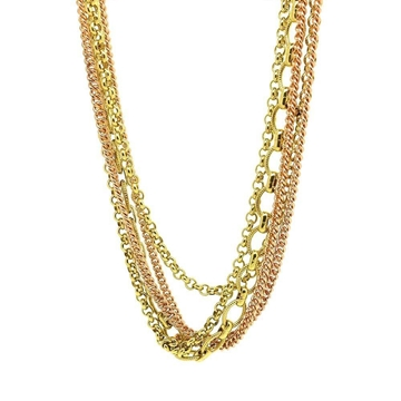 Monet 1940s Gold Plated Chain vintage Necklace