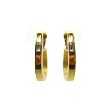 Givenchy 1980s Hoop gold tone vintage Earrings