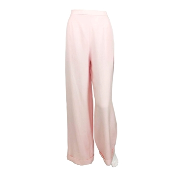 Chanel 1990s linen flared pink vintage trousers