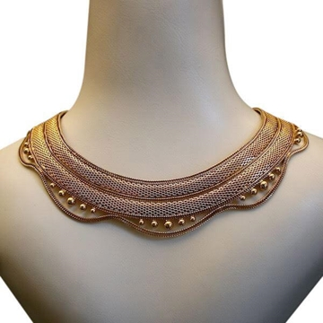 Christian Dior 1950s Collar Gold Vintage Necklace
