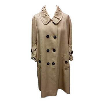 Burberry double breasted honey colour vintage trench coat