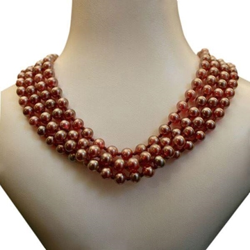 Vintage 1940s Faux Pearl Pink Necklace