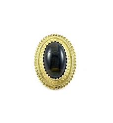 Antique 1860s gold & tigers eye vintage ring