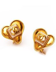 1990s Chanel Heart Earrings