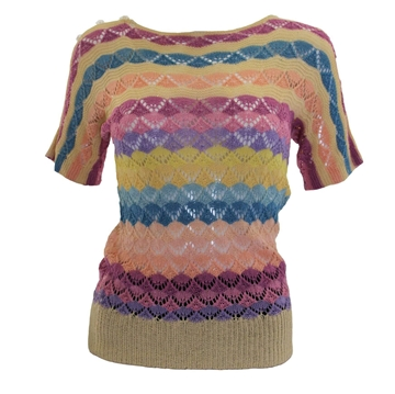 Vintage 1920s multicoloured striped jumper