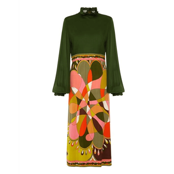 Emilio Pucci 1960s Silk Jersey Printed vintage dress