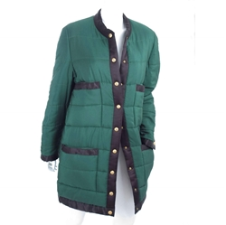 Chanel 1981 Quilted Puffer green vintage Coat