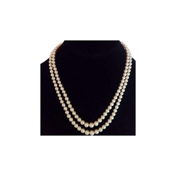 Ciro 1950's Double Strand Pearl vintage necklace