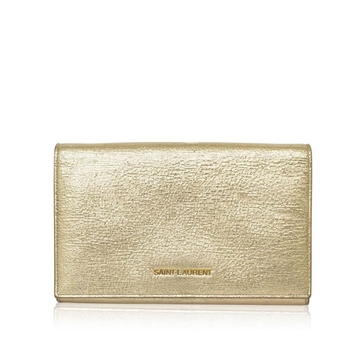 Saint Laurent metallic gold vintage chain wallet