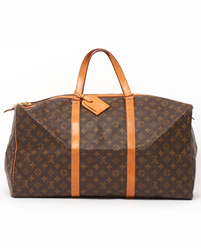 Picture of Louis Vuitton 1990s SAC Souple 55 Brown Leather Vintage Bag