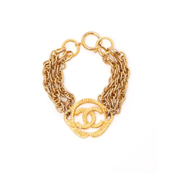 Picture of Chanel 1970s CC Logo Gold Vintage Bracelet