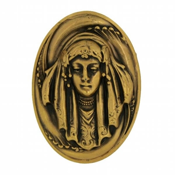 Joseff of Hollywood 1950s Art Nouveau Style Russian Gold Plate Vintage Brooch