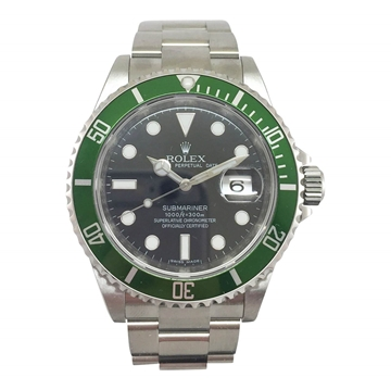"Rolex Submariner Oyster Perpetual Date ""Kermit"" 16610LV vintage mens watch"