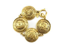 Chanel 1990s Gold-Plated Medallion vintage Bracelet