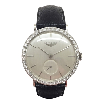 Longines manual wind white gold and diamond vintage womens watch
