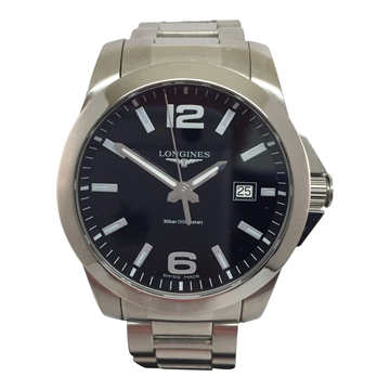 Longines Conquest L3.659.4 stainless steel vintage mens watch