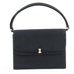 Gucci Italian Satin Black Vintage Evening Bag