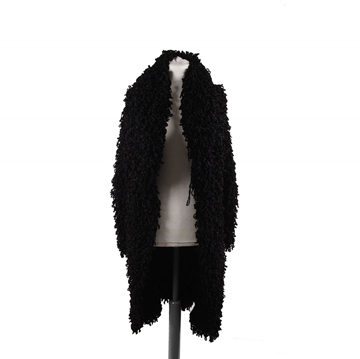 Giorgio Armani Black Label Fluffly Knitted Coat