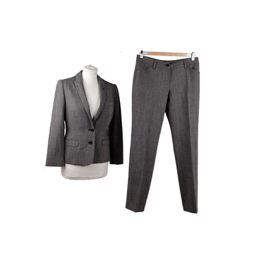 Picture of Dolce & Gabbana Wool Blend grey trouser suit