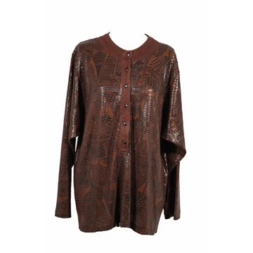 Emilio Pucci Brown vintage Long Sleeve Blouse