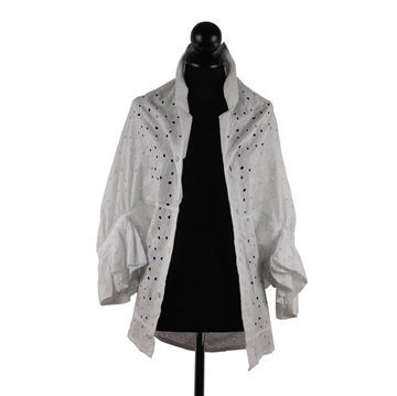 Junya Watanabe for Comme Des Garcons White Broiderie Anglaise Shirt Blouse