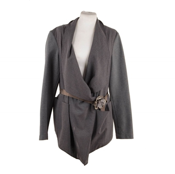 Brunello Cucinelli Cardigan style Flower Belt grey vintage jacket