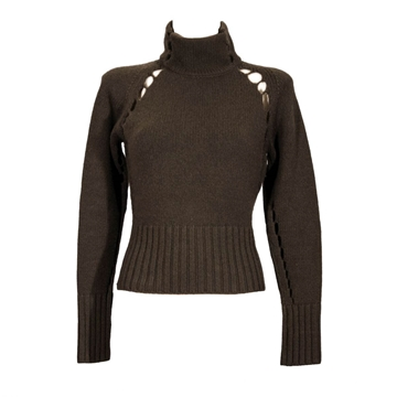 Yves Saint Laurent polo neck brown vintage jumper