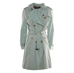 Burberry classic Double breasted green vintage trench coat